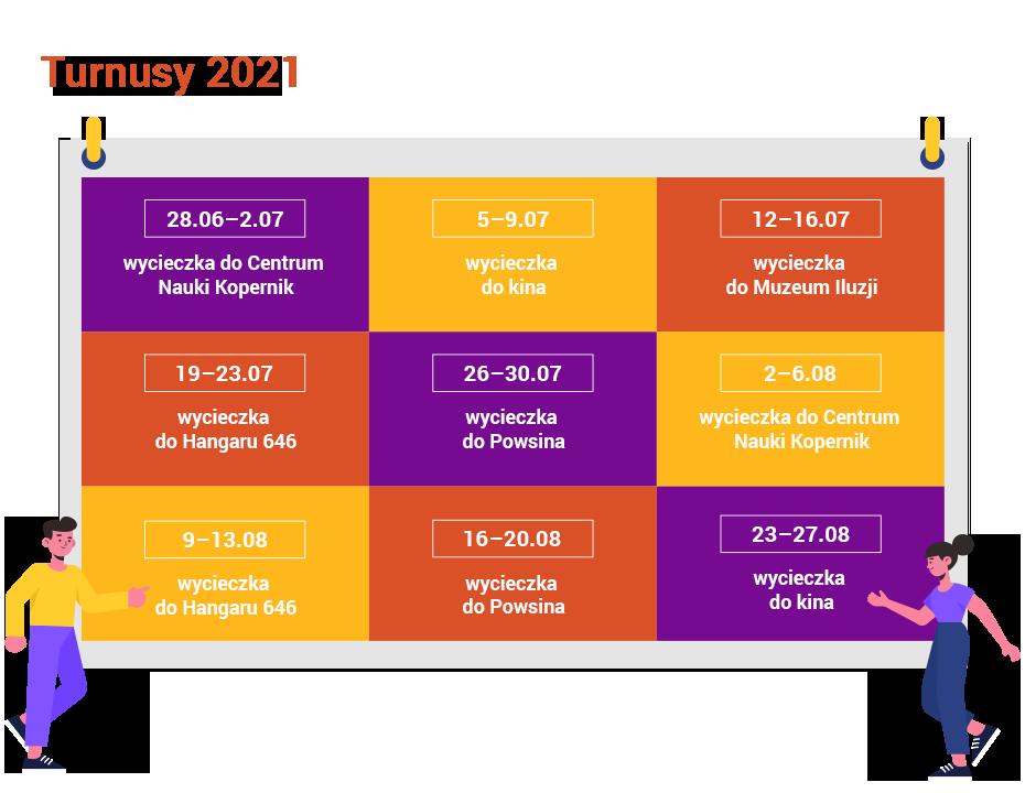 Półkolonie dla dzieci i młodzieży 2021